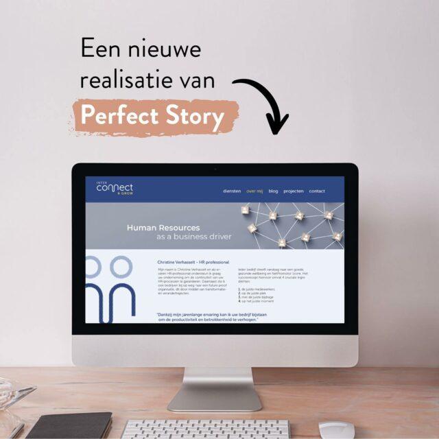 Een nieuwe realisatie van Perfect Story staat sinds kort online!  Zaakvoerster Christine Verhasselt blikt reeds terug op een jarenlange carrière binnen de HR-wereld en is sinds 2016 aan de slag als freelance HR-expert. Om haar diensten en ervaring online kenbaar te maken, klopte ze een tijdje geleden aan bij Perfect Story.   Perfect Story schreef de webcopy en coördineerde het volledige webproject , JC Software Solutions tekende vervolgens het webdesign uit. STUDJO.KE zorgde tot slot voor het nieuwe logo en bijhorende huisstijl.   Neem zeker eens een kijkje op www.interconnectgrow.be en contacteer Christine als jij in jouw onderneming nood hebt aan een freelance expert met een innovatieve blik op HR.